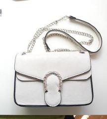Sivo bijela torba