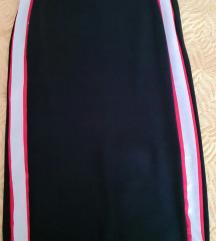 Crna pencil pamučna suknja