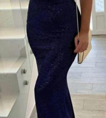 Haljina duga plava