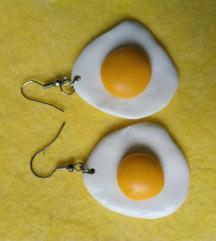 Naušnice, fimo, jaje na oko