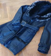 Crni kaput od prave kože 200 kn😀 PRILIKA%%%