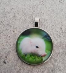 Privjesak za lančić svinja za sreću