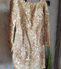 Zlatna haljina s pt