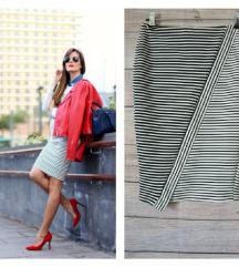 Zara prugasta suknja vel M