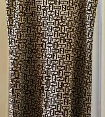 Haljina Fendi crno-zlatna