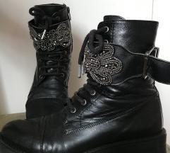 Passage crne kožne čizme