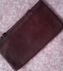 Smeđa kožna pismo torbica