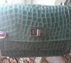 Zelena kožna torbica