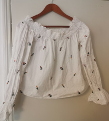 Zara bluza s puf rukavima
