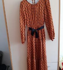 Haljina na točkice s mašnom