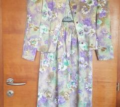 Vintage cvjetni komplet S/M