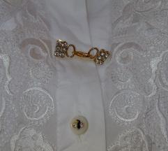 Bijela bluza Monica Magni