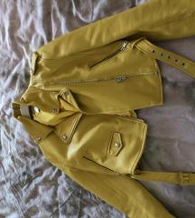 Akcija 80 kn Kožna jakna žuta