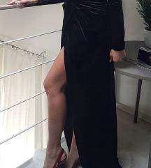 Duga večernja haljina, tamnoplava, nikad nošena