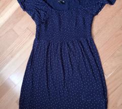 Plava tunika na točkice za trudnice