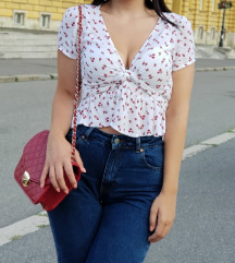 cvjetna košuljica na vezanje