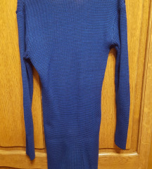 Plava haljina s dugačkim rukavima