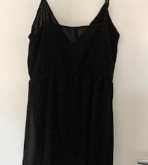H&M crna slip haljina/tunika