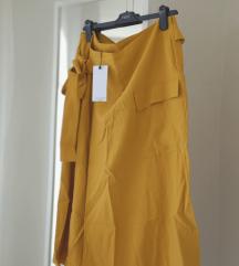 Mango Violeta midi suknja s mašnom