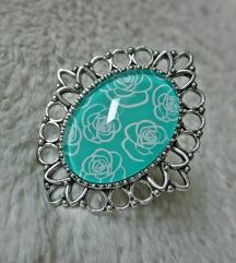 Prsten ''Mint roses'' (ručni rad)