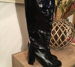 Zara visoke lakirane čizme