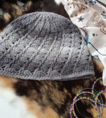 Ručno rađena vunena kapa, NOVO