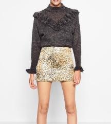 SNIŽENO Zara zlatna mini suknja