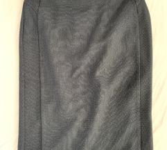 Tamnoplava pencil suknja