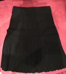 Nenošena crna plisirana suknja Mango suit s 36