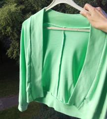 Zeleni ljetni sako, majica bez kopčanja