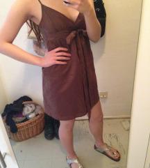 Smeđa ljetna haljinica