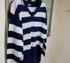 Prugasti mornarski novi pulover%