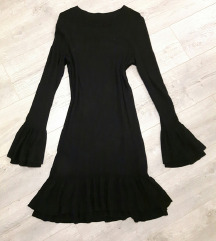 orsay crna pletena haljina s/m