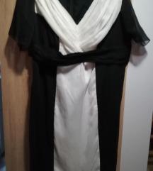Crno bijela haljina šivana po mjeri 46/48