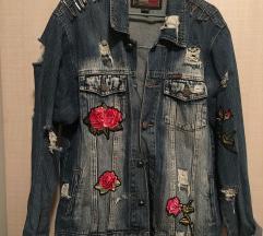 Jeans jakna sa stikerima