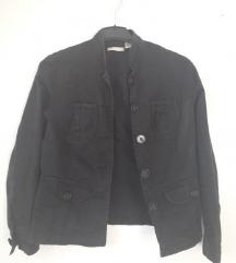 Traper crna prijelazna jakna uska 36
