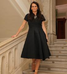 Max&co crna jacquard haljina