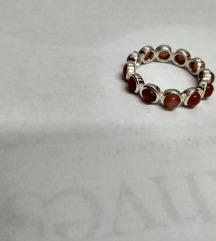 Vintage prsten srebro 925 i peach seleniti