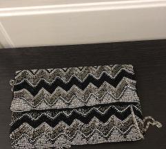 Mala torbica srebrna s perlicama