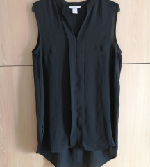 Crna bluza bez rukava