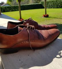 Muške smeđe kožne cipele, prava koža!