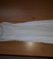 Bijela midi haljina od lana