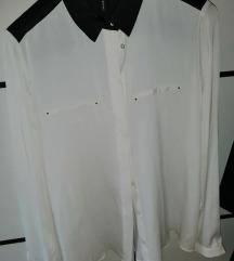 Mango nenošena košulja bijela s tamnoplavim