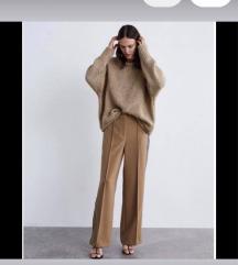zara camel hlače