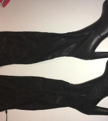 Čizme, crne visoke, na petu