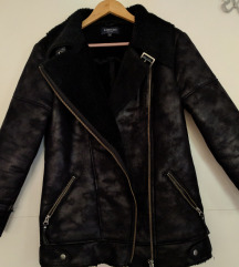Avijatičarska jakna sa efektom brušene kože