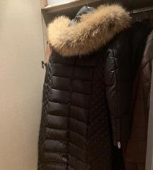 Duga zimska jakna, pravo krzno, nova
