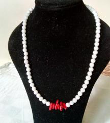 crveno bijela ogrlica