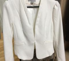 H&M bijeli novi sako