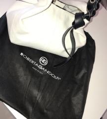 Roberta Gandolfi bijela kožna torba